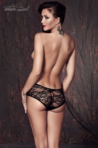 CAROL - Lace briefs with satin insert.