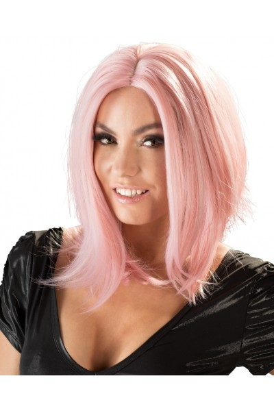 Wig in bob style, pink.