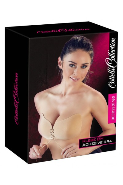 Adhesive Bra with Lacing.