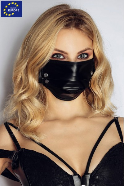 Face mask with studs.