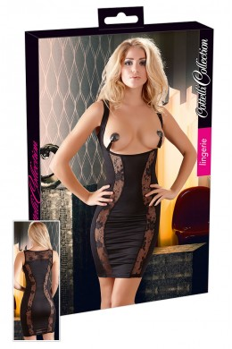 Dress curve-up braless with lace.