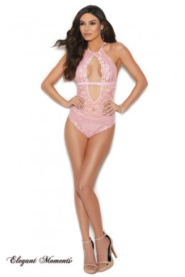 Pink lace body.