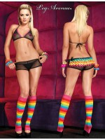 Leg Avenue: bikini top and satin rainbow ruffle rhumba boy short