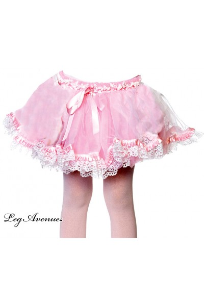 Leg Avenue Kids: petticoat with satin ribbon detail.