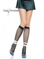 Leg Avenue: Spandex fishnet knee highs.