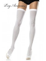 LEG AVENUE: opaque mini polka dot stockings.