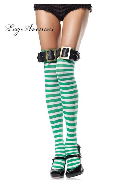Leg Avenue: striped thigh highs.