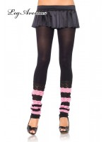 Leg Avenue: Striped scrunchy knit leg warmers.