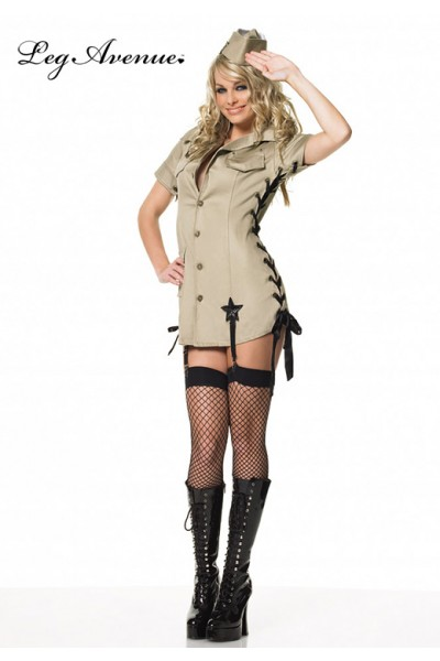 LEG AVENUE: 2 Pc. Military Pin-Up Girl Costume