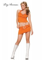 LEG AVENUE: two piece Orange Soda Pop 60's girl costume
