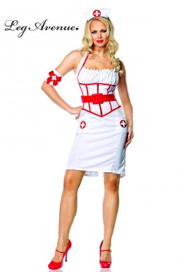 Leg Avenue: On Call Nurse Costume 3 pc.