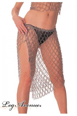 Leg Avenue: Chainmail Knee Length Skirt.