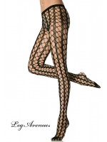 Leg Avenue: Seamless warning net pantyhose.