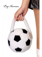 Leg Avenue: Plush soccer ball purse.