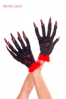 Devil gloves with nails.