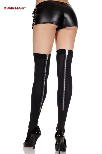 Music Legs: thick spandex stockings with zipper.