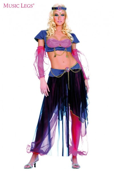 6 pc. belly dancer outfit.