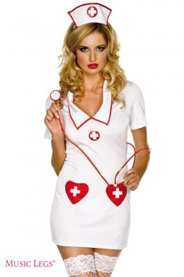 Nurse costume outfit 3 pcs.