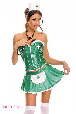 Nurse costume 4 pcs.