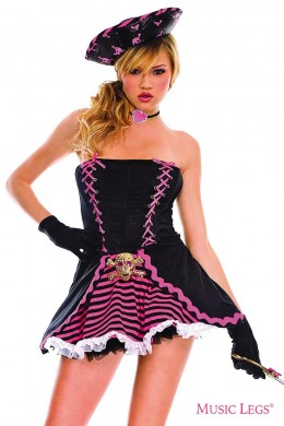 Pirate costume outfit 5 pcs.