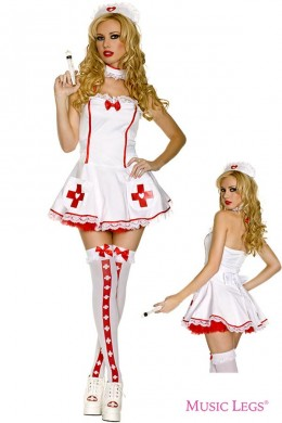 Music Legs: nurse of hearts costume 4pcs.