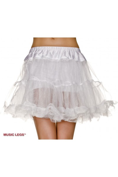 Music Legs: double layer tulle petticoat. White