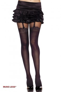 Music Legs: pantyhose with thigh hi.