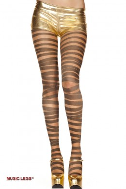 Music Legs: pantyhose with stripes design.
