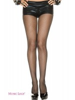 Music Legs: seamless fishnet pantyhose. XL.