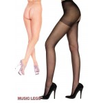 Music Legs: sheer crotchless pantyhose.