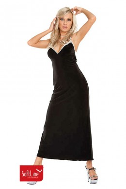 xCoral - long dress with wide back neckline.