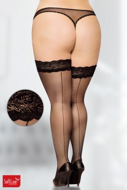 Softline - Thigh hi with lace and silicon top.
