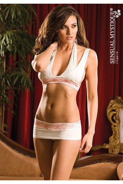 Halter top and matching skirted thong