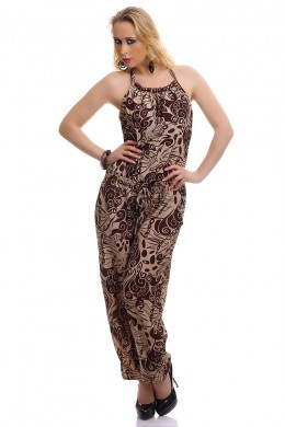 Jumpsuit sleeveless with cappuccino fancy.