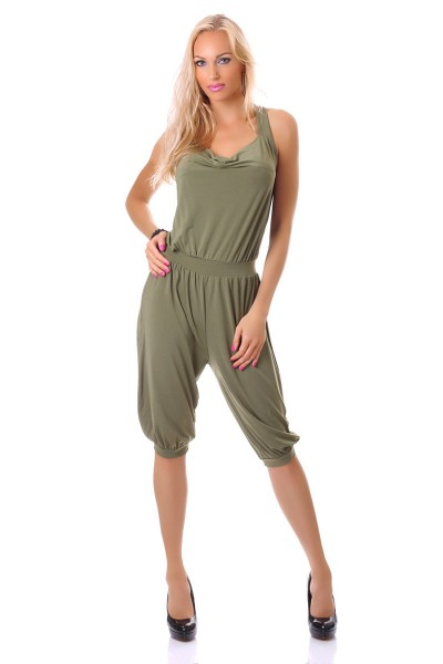 Sleeveless jumpsuit with colored rings. 2 COLOURS