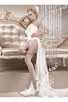 Ballerina: Tiffany white tights.