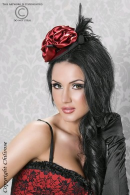 CHILIROSE - hair accessory with satin rosebuds
