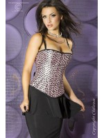 CHILIROSE: pink spotted bustier.