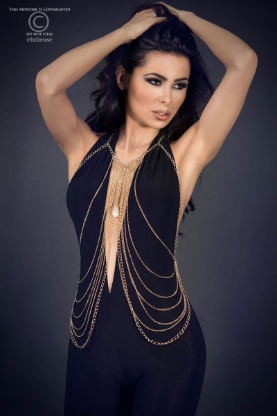 CHILIROSE: belly body chains with stone. Model 4000