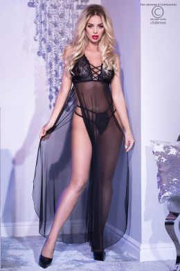 Négligé in tulle open on the sides with lace cups.