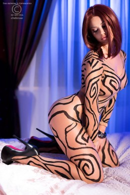 CHILIROSE: bodystocking original design.
