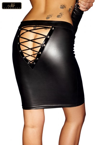 Skirt with lacing on back