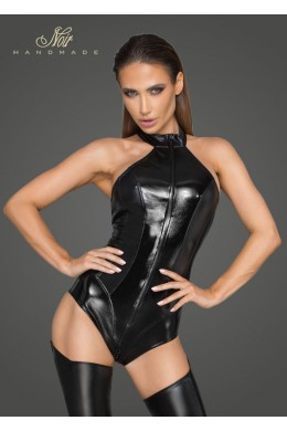 Women's powerwetlook and lacquered eco leather body - 3XL
