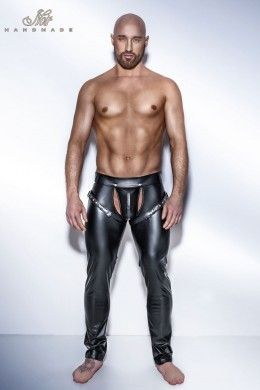 Powerwetlook Easy access long pants with harness.