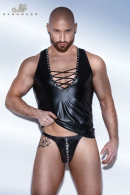 Powerwetlook Vest with binding and eyelet tape