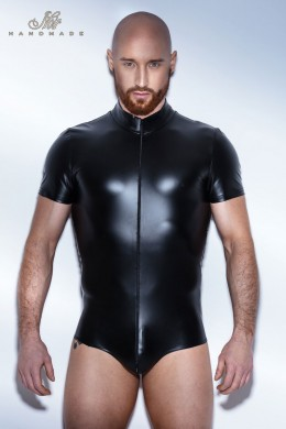 Body with two way zipper and short sleeve