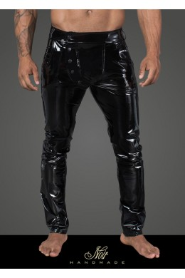 Men's long pants made of elastic PVC - 3XL