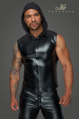 Hooded Shirt with 2-way zipper