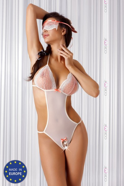 MISTY tulle and lace body + eye band.