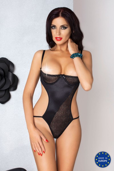 CAROLYN black body in satin and lace.
